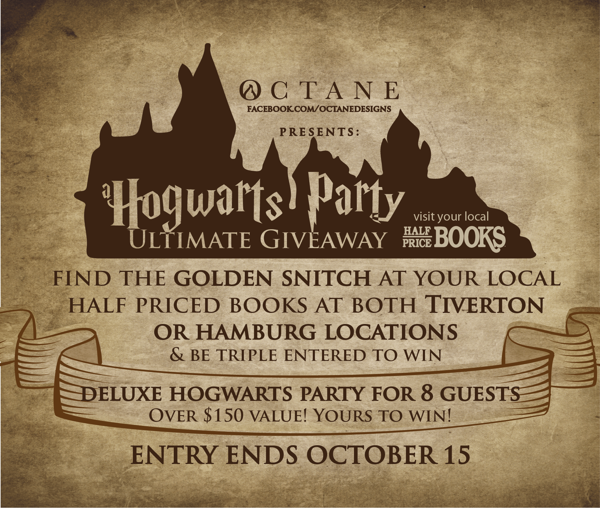 Octane partners with Half-Priced Books for A Hogwarts Party Ultimate Giveaway